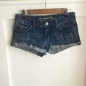 American Eagle Paint Splatter Shorts, 6